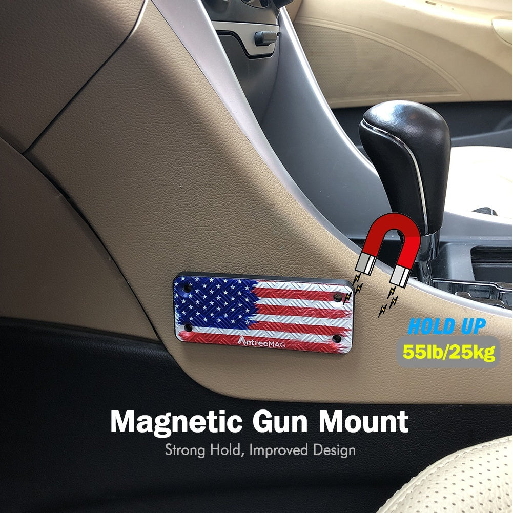 55Lbs Super Strong Gun Magnet mount Force Magnetic Holder for Home,Truck,Car,Desks,Safes and Walls by AntreeMAG
