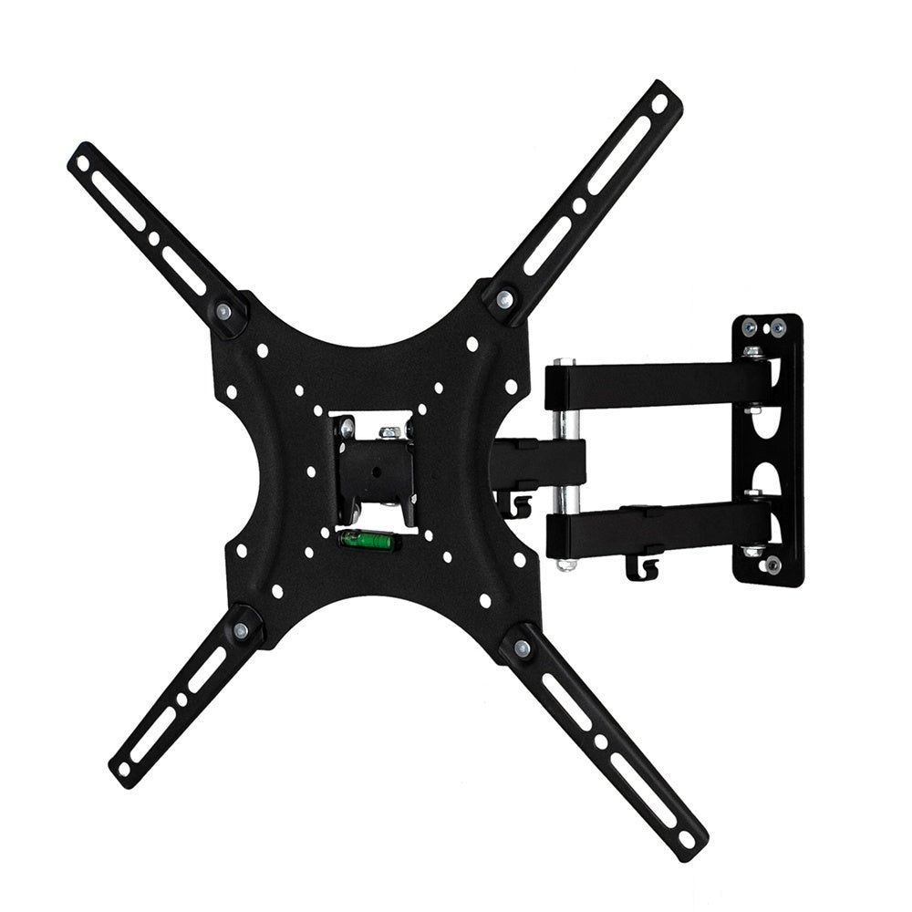 High Quality Universal Home Adjustable TV Stand TV Wall Mount Bracket Design For 26-55 Inch TV Set Black Super Strong Load Capacity Rated to 30kg Adjustable Horizontal Bubble