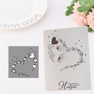 New Arrival Heart Metal Cutting Dies Stencils for DIY Scrapbooking/photo Album Decorative Embossing DIY Paper Cards