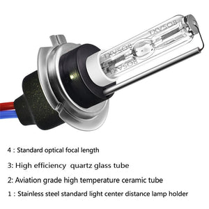 2PCS H7 HID Xenon Light Bulbs 55W 4300/5000/6000/8000K Headlight Spot Flood Fog Lamp 3500-5500LM 9-16V
