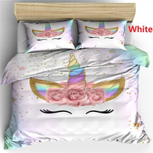 Load image into Gallery viewer, Fashion Rainbow Unicorn 8 style Unicorn pattern Bedding Set Digital Print  Duvet cover Pillowcase 2/3 pcs Bed Set  Single/US Twin/US Full/US Queen/UK King