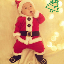 Load image into Gallery viewer, 4Pcs/set Baby Boys Girls Christmas Outfits Santa Claus Cosplay Costumes Clothes for 0-24 months