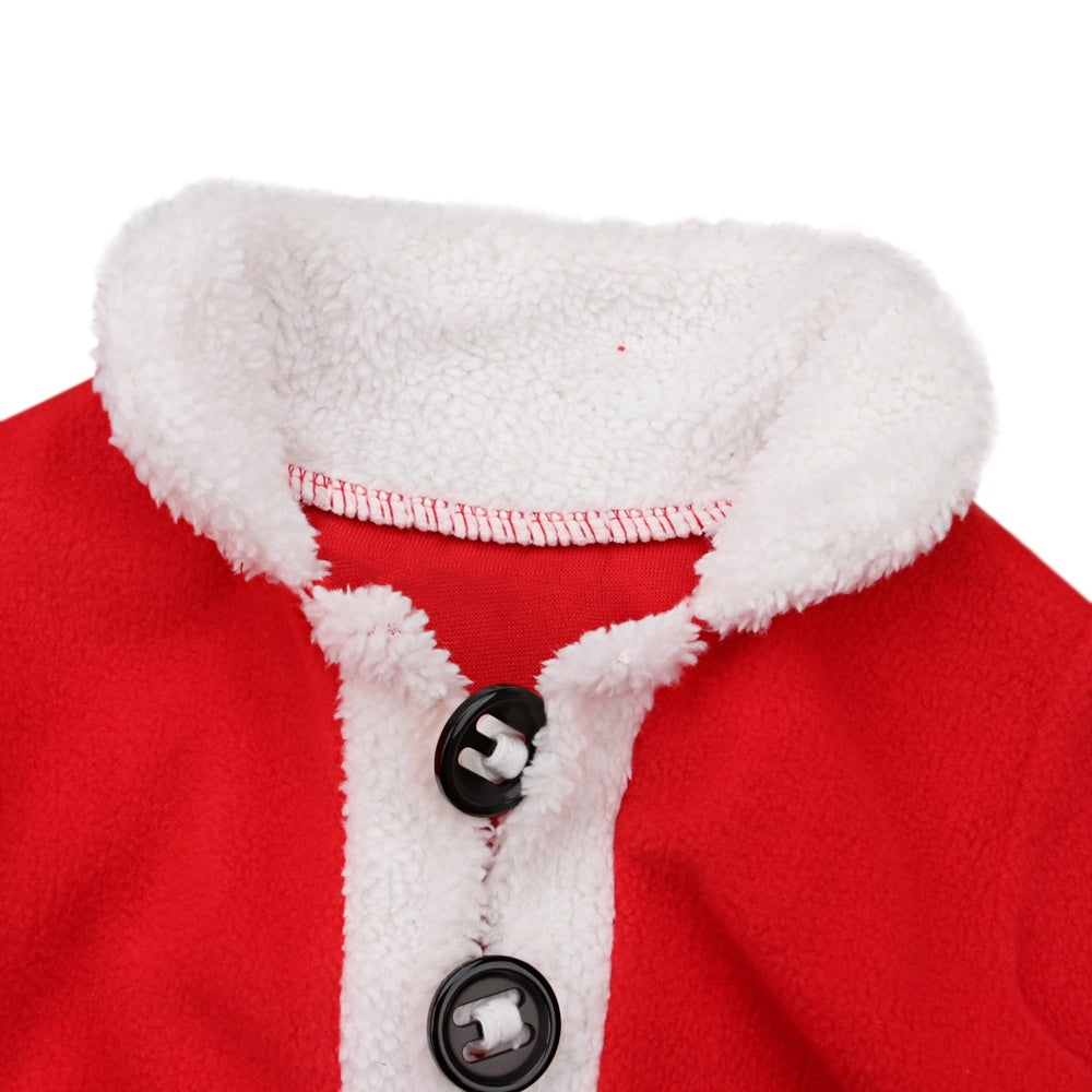 4Pcs/set Baby Boys Girls Christmas Outfits Santa Claus Cosplay Costumes Clothes for 0-24 months