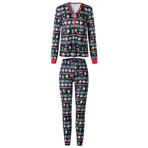 Fashion Lovely Comfortable Cotton Family Mums Matching Christmas Pajamas PJs Sets Xmas Gift Sleepwear Nightwear Outfit Clothes