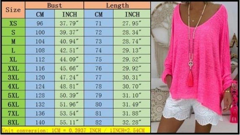 XS-8XL Women's Fashion Autumn and Winter Long Sleeve Tunic Tops Solid Color O-Neck Shirts Ladies Loose T-shirt Cotton Pullovers Plus Size T Shirt Blouse