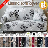 New TOP QUALITY 18 Colors 1/2/3/4 Seaters Sofa Slipcover Stretch Protector Soft All-inclusive Ultra-soft Knitted Stretch Sofa Cover