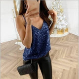 Summer large size women's sequined shirt women's new fashion loose half-sleeved strapless shirt casual ladies cool shirt