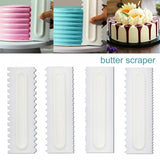 4pcs New Cake Decorating Comb Icing Smoother Scraper Edge Frosting Tool Spatula