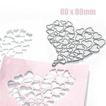 Load image into Gallery viewer, Heart Metal Cutting Dies for Scrapbooking Card Making Stitch Craft Stencil Die Cut