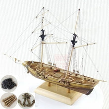 Load image into Gallery viewer, Wooden Assembled Western Classical Sailing Boat 1/170 Baltimore Schooner