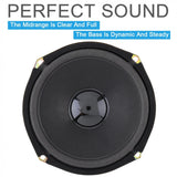 1pcs 6 Inch 400W Rubber&Metal Black Car Coaxial Speaker Vehicle Door Auto Audio Music Stereo Full Range Frequency Hifi Speakers