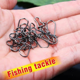 50Pcs/Lot Stainless Steel Fishing Snaps Fastlock Clips Size 40LB-220LB Safety Connector Accessories Tackle for Lures Hooks