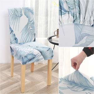 Park of 1/2/4pcs Printed  Elastic Chair Cover for Dining Room Banquet Wedding Restaurant Chair Protector
