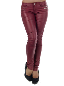 2018 Women s Fashion Trousers Hipsters Pants Skinny Leather Pants