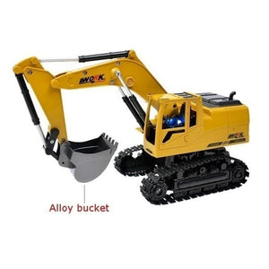 2.4G RC  Excavator Alloy 8 CH Truck Digger Engineering Vehicle Model 2.4G Backhoes Bulldozer Remote Control  Electronic Kids Hobby Toys