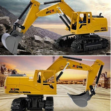 Load image into Gallery viewer, 2.4G RC  Excavator Alloy 8 CH Truck Digger Engineering Vehicle Model 2.4G Backhoes Bulldozer Remote Control  Electronic Kids Hobby Toys