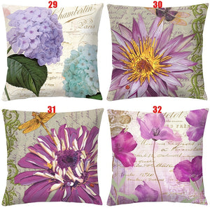 56 Styles 454x5cm Double-sided Printing Red Rose Flowers Retro Pillow Covers Cushion Cover Sofa/Car/Bedroom Decor