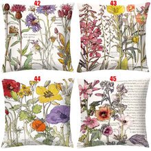 Load image into Gallery viewer, 56 Styles 454x5cm Double-sided Printing Red Rose Flowers Retro Pillow Covers Cushion Cover Sofa/Car/Bedroom Decor