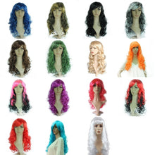 Load image into Gallery viewer, Fashion Women 50cm Long Curly Wig Cosplay Party Costume Hair Wig Synthetic Hair Heat Resistant Wig Wavy Full Curly Hair Wig