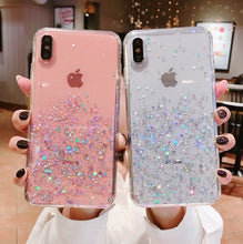 Load image into Gallery viewer, New Fashion Glitter Bling Sequins IPhone Case for Iphone 8 7 Plus 6 6s Epoxy Star Transparent Case for Iphone X XR XS MAX 10 Soft TPU Cover