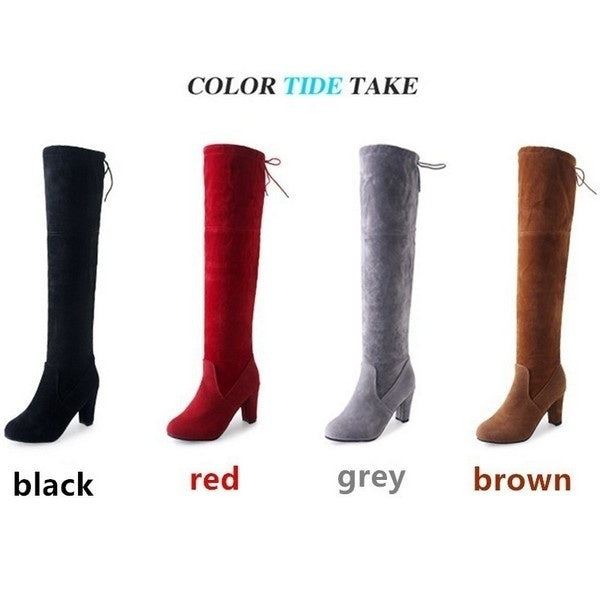 Women's Fashion Autumn Winter Scrub Boots High Boots (If Your Feet Are Fat or Wide Please Choose A Larger Size)