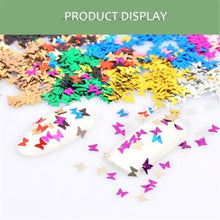 Load image into Gallery viewer, 12Grids/Set Butterfly Shape Nail Flakes 3d Laser Glitter Sequin Nail Art Decorations