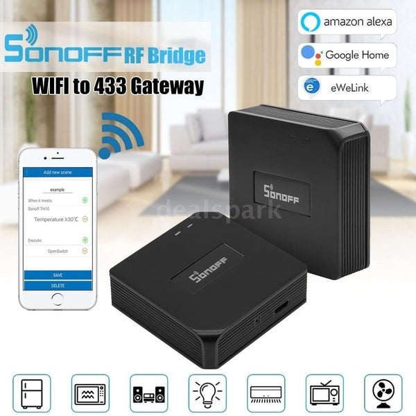 SONOFF? RF Bridge WIFI 433 MHz Replacement Smart Home Automation Universal Switch Intelligent Domotica Wi-Fi Remote RF Controller