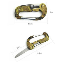 Load image into Gallery viewer, 4 In 1 Multifunctional Tool Carabiner Hook Cutter Gear EDC Tool Outdoor Camping