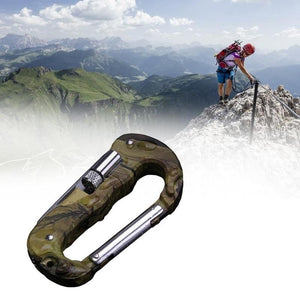 4 In 1 Multifunctional Tool Carabiner Hook Cutter Gear EDC Tool Outdoor Camping