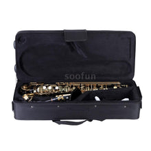 Load image into Gallery viewer, Ammoon Eb Alto Saxophone Brass Lacquered Gold E Flat Sax 82Z Key Type Woodwind Instrument with Cleaning Brush Cloth Gloves Strap Padded Case