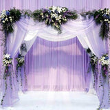 48CM * 5M Pure Crystal Transparent Tulle Wedding Dress Tulle Transparent Yarn Gauze Elements Flower Door Party Decoration Flower Cloth