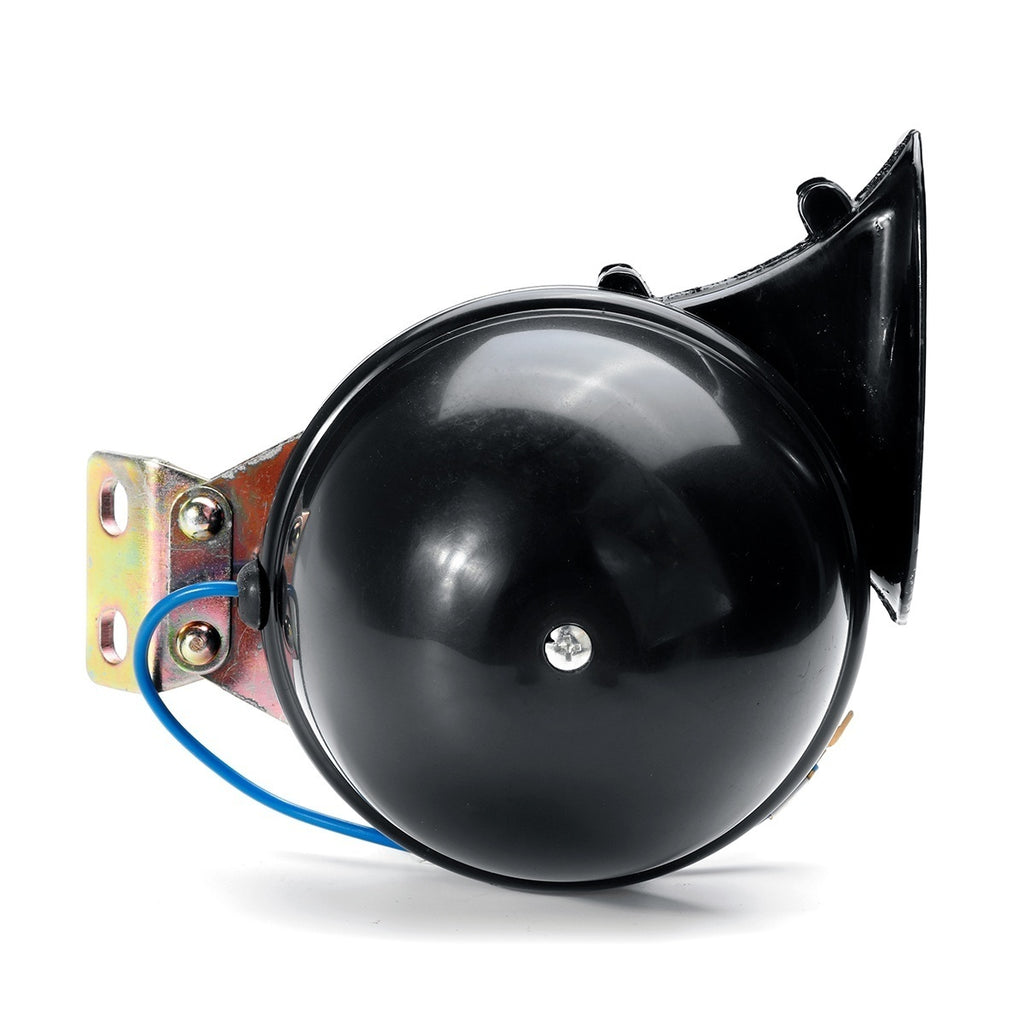 Loud 350DB 12V Black Electric Snail Horn Air Horn Raging Sound For Car Motorcycle Truck Boat