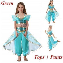 Load image into Gallery viewer, 14 Colors 3-10 Years Children Kids Fancy Princess Cosplay Costumes for Halloween Carnival Masquerade Xmas Party