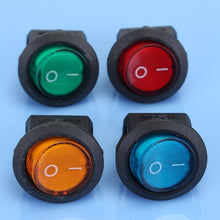 Load image into Gallery viewer, LED Dot Light 12V Car Boat Auto Round ON/OFF Rocker Toggle SPST Switch