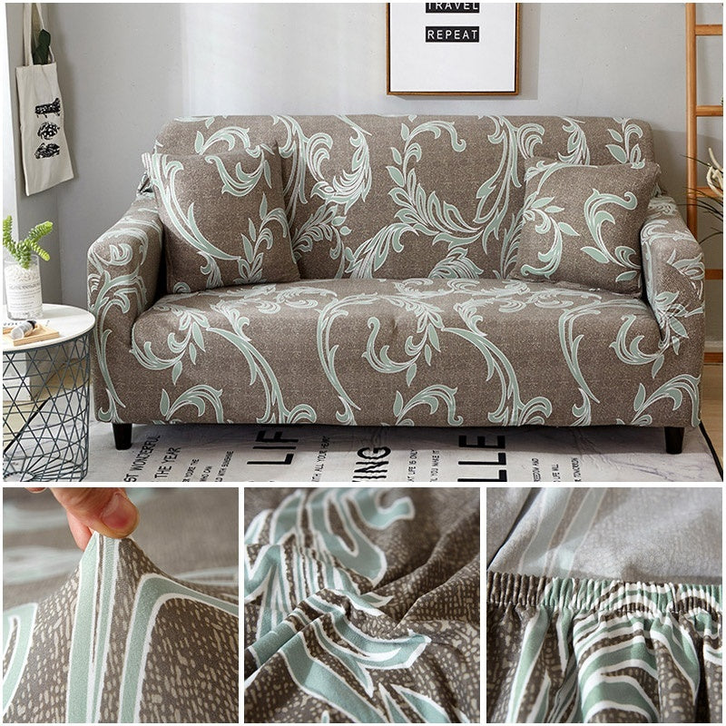 1/2/3 Seaters printing Stretch Slipcover Non-slip Elastic Sofa Covers Luxury Polyester Fiber Four Season All-inclusive Stretch Sofa Cushion Sofa Towel