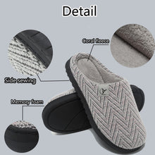 Load image into Gallery viewer, AERLAN Men's and Women's Cozy Memory Foam Slippers Plush Coral Fleece House Shoes Indoor Anti-Skid Winter Slippers Size 36-47 EU