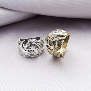 Vintage Unisex Luminous Dragon Finger Rings for Men Women Fashional Rings Glow In The Dark Ring Jewelry Accessories