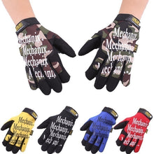 Load image into Gallery viewer, Fashion Full Finger Gloves Tactical Gloves for Men and Women Mountaineering Riding Mechanic Gloves Bicycle Mittens Gloves Working Gloves Breathable Non-slip
