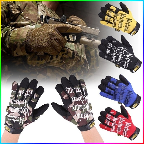 Fashion Full Finger Gloves Tactical Gloves for Men and Women Mountaineering Riding Mechanic Gloves Bicycle Mittens Gloves Working Gloves Breathable Non-slip