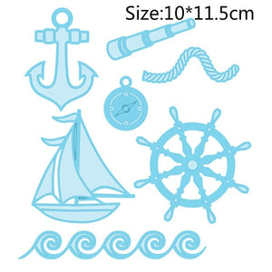 Boat supplies / boat Metal die cutting new templates for DIY Scrapbooking DIY paper cards crafts decoration die cut emobsing
