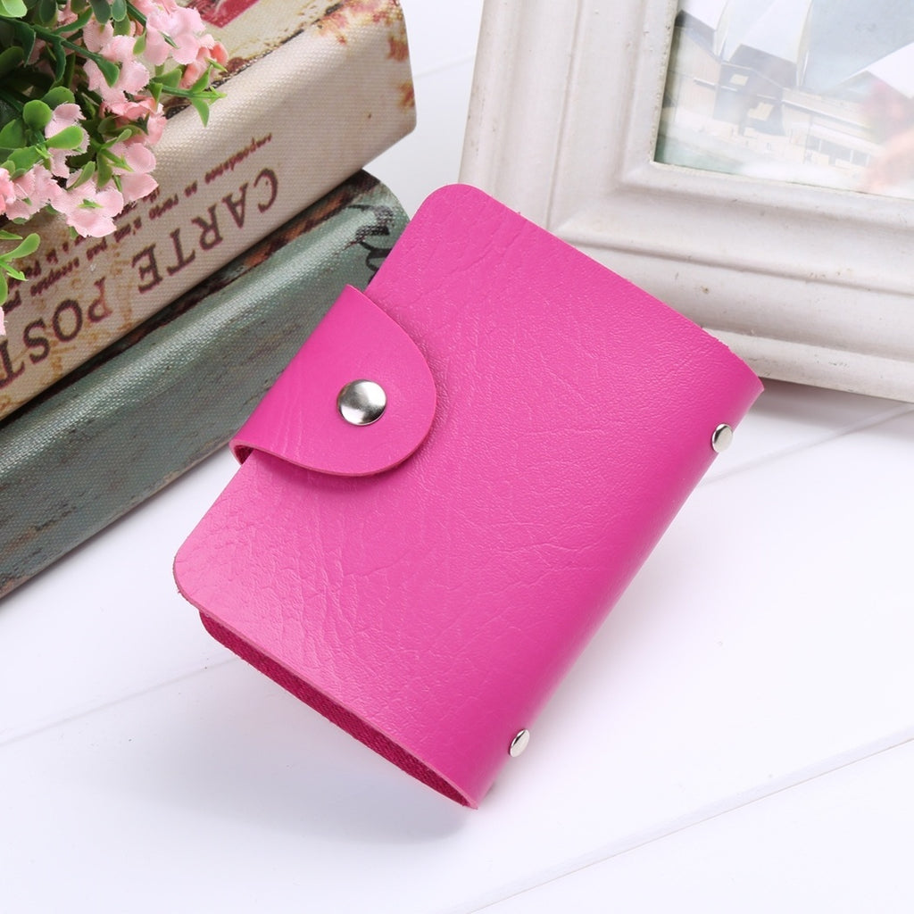 New New Unisex PU Leather 24 Cards Slots Men Women Purse Wallet Pocket Case ID Credit Card Holder