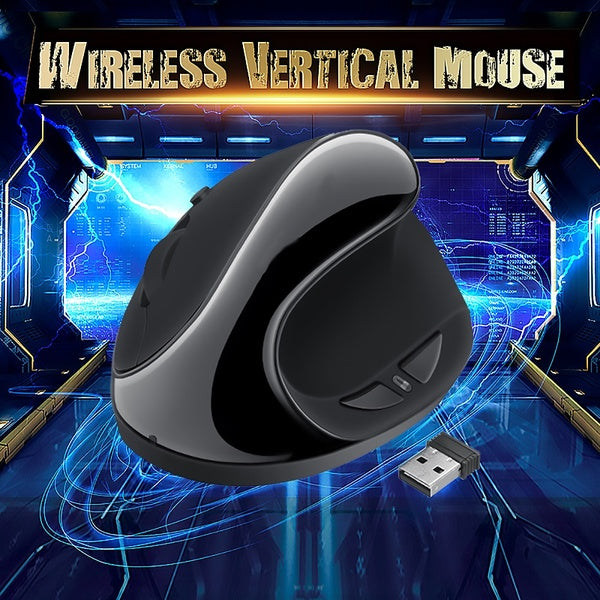 1600DPI Adjustable 6 Buttons 2.4GHz Wireless Ergonomic Vertical Mouse
