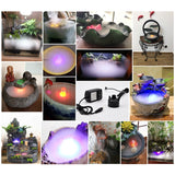 Halloween Mist Maker Fogger Water Fountain Fog Machine Color Changing Party Prop