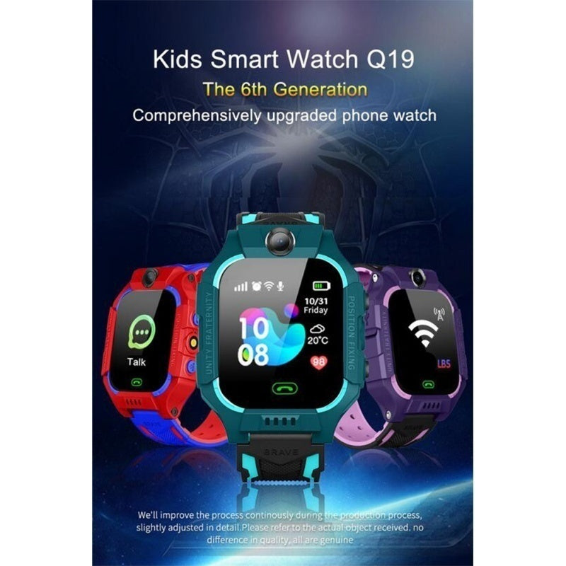 Children's Smart Watch Q19 Positioning Touch Screen Camera Mobile Phone Smart Watch Life Waterproof English Version of Children's Gifts