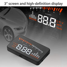Load image into Gallery viewer, New Hot X5 Car HUD Head Up Display OBD II EOBD Automatic Matching Overspeed Warning System Projector Windshield Car Voltage Speed Alarm