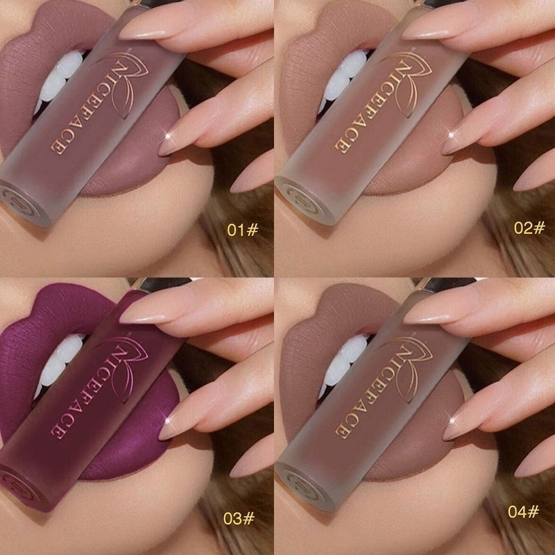 25 Colos Lipstick Makeup Lips Matte Long-lasting Waterproof Liquid Lip Gloss Nude Cosmetic Mate Non-stick Cup Lipsticks