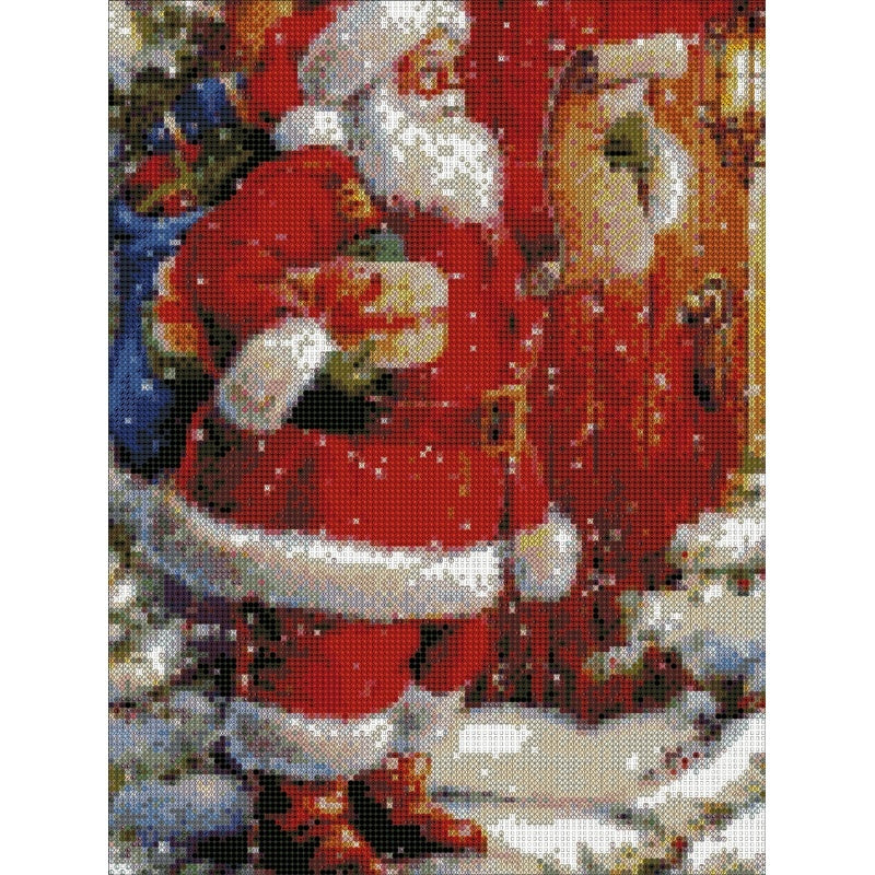 DIY Full Diamond Painting Diamond Embroidery Christmas Santa Claus Craft Cross Stitch Wall Decorations Gift