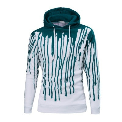 Hooded Polyester Print Long Sleeve Pullover Men's Hoodies