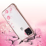 iPhone 11 Case ,Glitter Diamond Flower Case For iPhone Xs Max XR X 7 8 Plus 6 6s 11 2019 Phone Case Luxury Crystal Clear Soft Silicon Back Cover