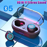 [Bluetooth5.0, Auto Pairing,CVC8.0 Noise Canceling]  Earbuds bluetooth 5.0 Wireless TWS Earbuds Earphones 8D Stereo Headphones IPX5 Waterproof